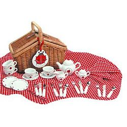 Ladybug Tea Set Basket for Sale