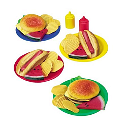 kids bbq play food