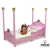 pink princess toddler bed